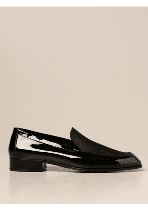 Henry Saint Laurent moccasins in patent leather and gross grain