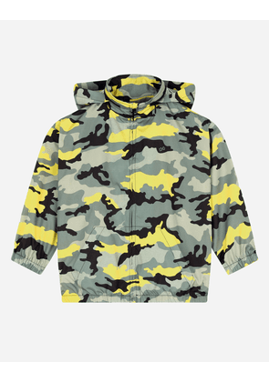 Dolce & Gabbana Collection - Nylon windbreaker with camouflage print Multicolor male 4