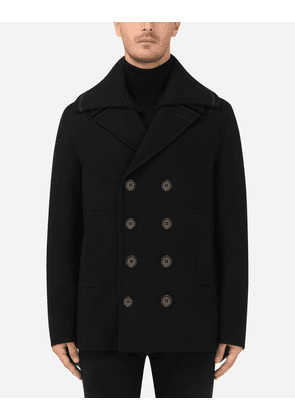 Dolce & Gabbana Collection - Wool and cashmere peacoat Black male 48