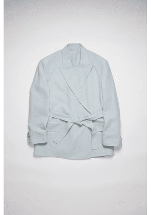 Acne Studios FN-WN-SUIT000255 Ice blue Belted suit jacket