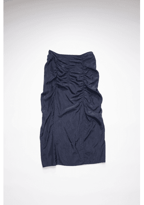 Acne Studios FN-WN-SKIR000262 Black/Navy Fitted ruched skirt