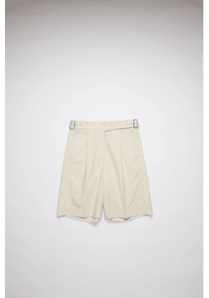 Acne Studios FN-WN-SHOR000039 Cream beige Belted cotton shorts