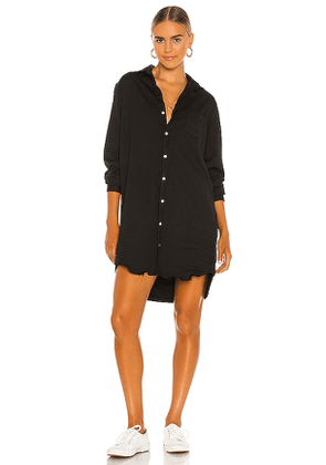 Frank & Eileen Mary Woven Button Up Dress in Black. Size S.