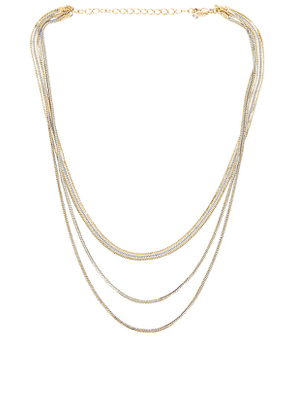 8 Other Reasons Da Bomb Dot Com Necklace in Metallic Gold.