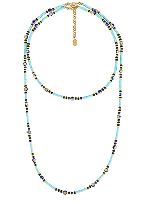 Elizabeth Cole Polly Necklace in Turquoise.