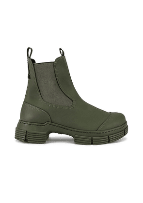 Ganni City Boot in Olive. Size 39, 41.