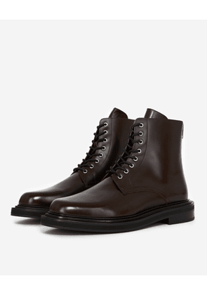 The Kooples - Brown leather boots with thick sole - MEN