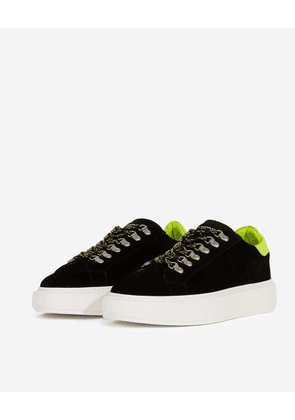 The Kooples - Black suede sneakers with thick sole - MEN
