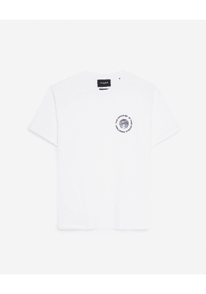 The Kooples - White cotton T-shirt with planet logo - WOMEN