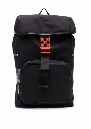Off-White Arrows leather-trim backpack - Black