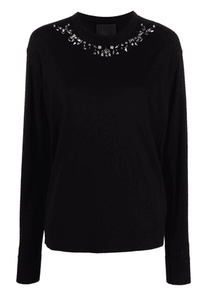 Givenchy piercing-detail wool jumper - Black