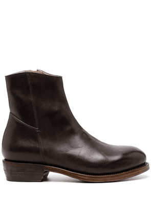 Ajmone polished ankle boots - Brown