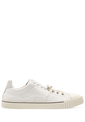 Low Top Cotton & Leather Sneakers