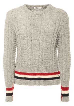 Filey Stitch Wool & Mohair Knit Sweater