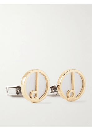 Dunhill - Gold- and Silver-Tone Cufflinks - Men - Silver