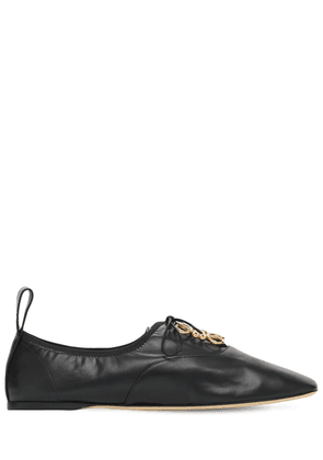 10mm Soft Derby Leather Lace-up Shoes