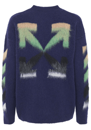 Diag Brushed Wool Knit Sweater