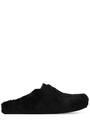 Long Hair Leather Loafers