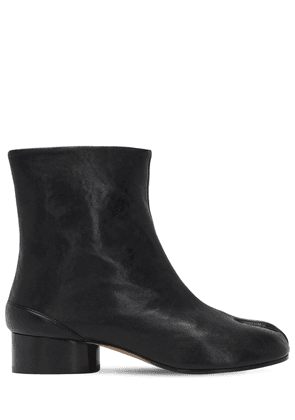 30mm Tabi Vintage Leather Ankle Boots