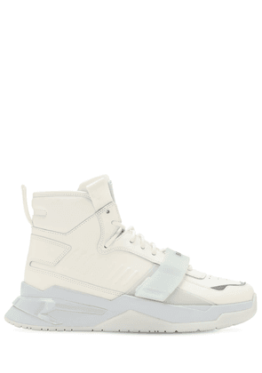 B Ball High-top Leather Sneaker W/ Strap