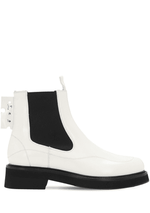 40mm Brushed Leather Chelsea Boots