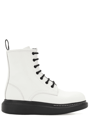 40mm Hybrid Leather Combat Boots