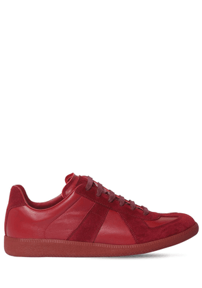 Replica Leather & Suede Low Top Sneakers