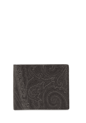 Paisley Print Coated Cotton Wallet