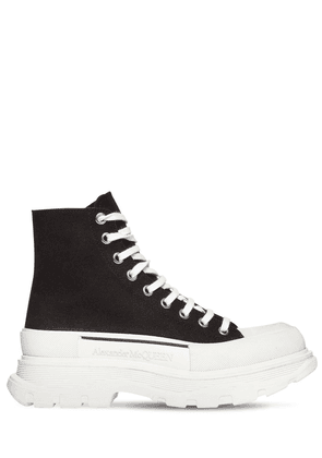 50mm High-top Cotton Canvas Sneakers