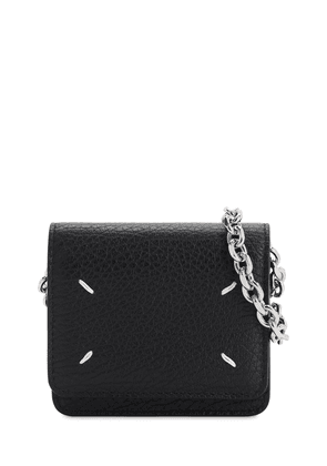 Mini Leather Wallet Chain