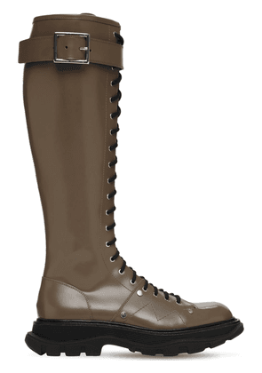 40mm Treaded Leather Tall Boots