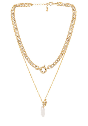 8 Other Reasons Want No Scrub Necklace in Metallic Gold.