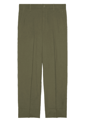 Gucci cropped straight-leg trousers - Green
