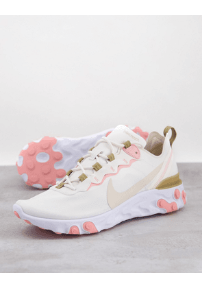 Nike React Element 55 trainers in pink
