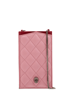 Quilted Pave Phone Holder W/chain
