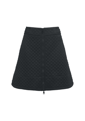 Quilted Jersey Mini Skirt