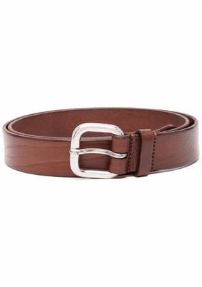 Anderson's cracked-effect leather belt - Brown