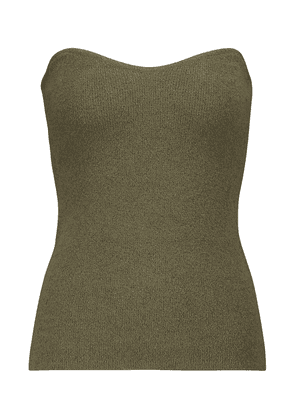 Tua ribbed-knit cotton-blend bustier