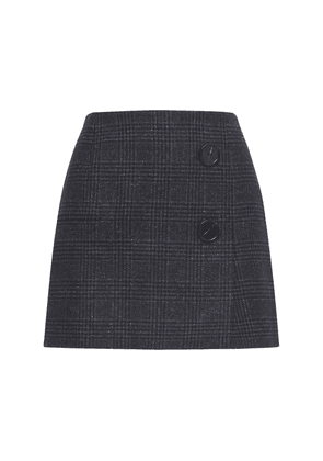 Double Face Georgette Check Mini Skirt