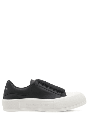 45mm Deck Plimsoll Leather Sneakers
