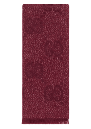 Gucci GG jacquard knitted scarf - Red