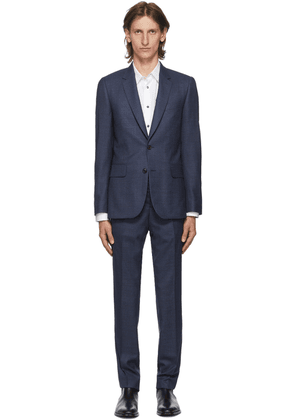 Paul Smith Navy & Red Wool Soho Suit