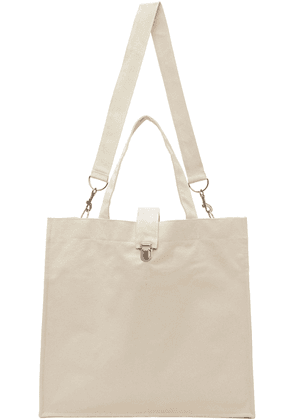 Camiel Fortgens Off-White Canvas Large Shopper Tote