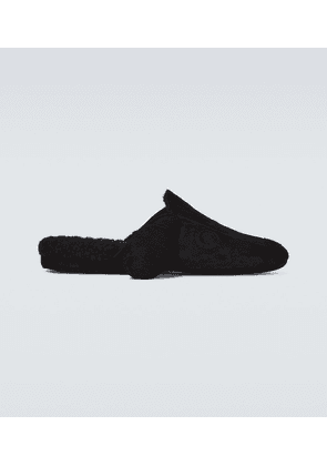 Hector shearling-lined suede slippers