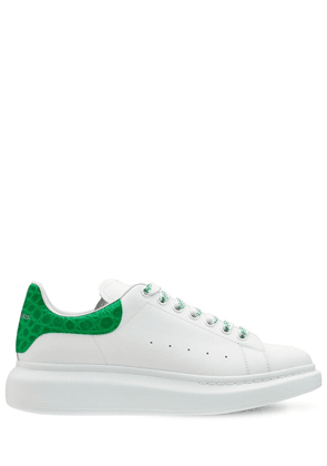 45mm Leather & Croc Embossed Sneakers