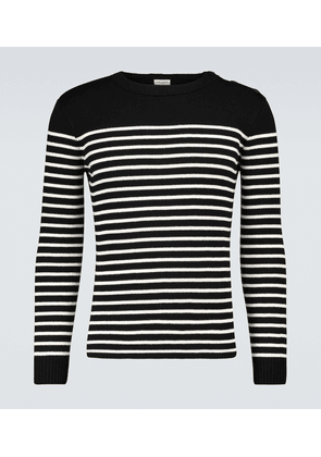 Cotton and wool striped sweater