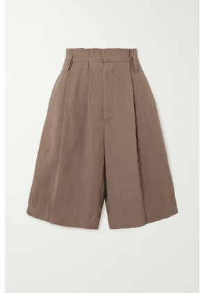 Brunello Cucinelli - + Space For Giants Pleated Twill Shorts - Beige