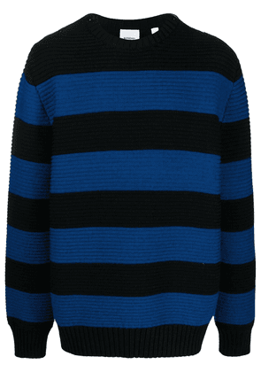 Burberry striped ribbed knitted jumper - Blue