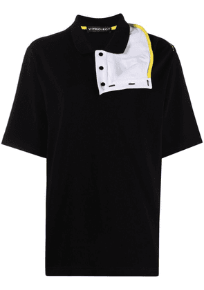 Y/Project reconstructed polo shirt - Black