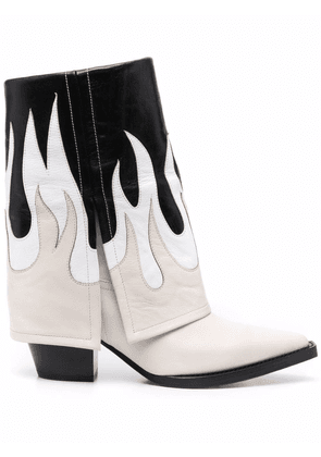 Filles A Papa Fire leather ankle boots - Neutrals